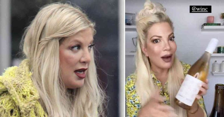 Why Tori Spelling is being called 'cruel' for partying on expensive wine bottles