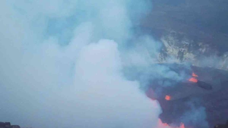 Hawaii's historic volcanic activity grows: An on-the-ground video of molten lava flowing from Kilauea